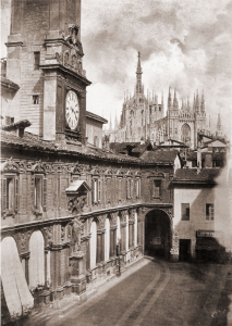 La loggia dei Mercanti a Milano