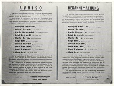 La fucilazione del 3/4 luglio 1944