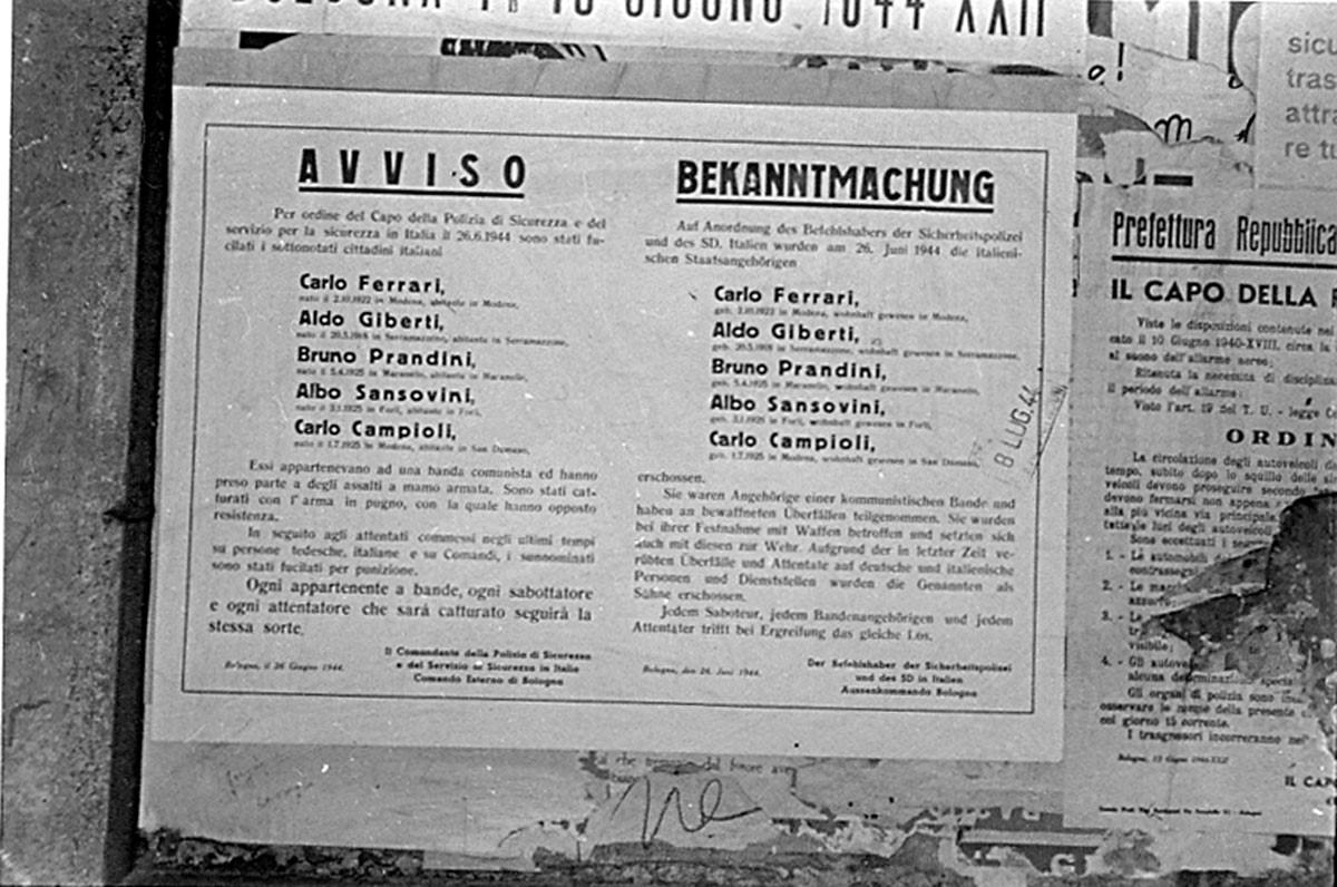 La fucilazione del 26 giugno 1944