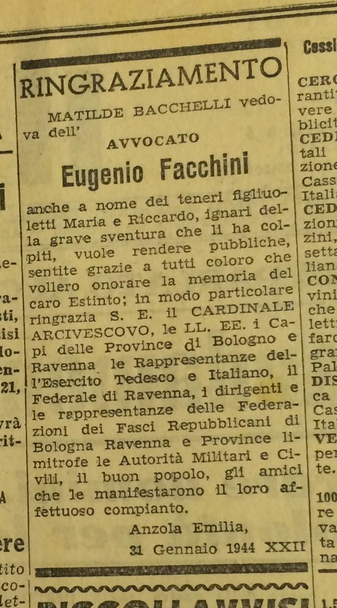 Eugenio Facchini: chi era?