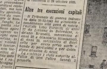"""L' articolo da """"L'Avvenire"""" del 5 gennaio 1944."""